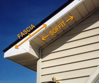 Here Is An Example Of Where Your Fascia Is And Your Soffit With Images Fascia Installation Pitched Roof