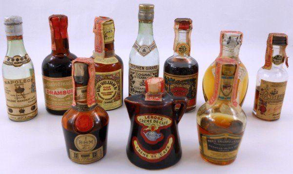 Old Liquor Bottles 222 Vintage Mini Liquor Bottles Lot 222 It