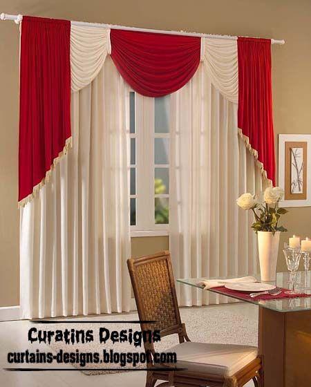 furniture and decoration red plus white drape design regarding window furniture and decoration