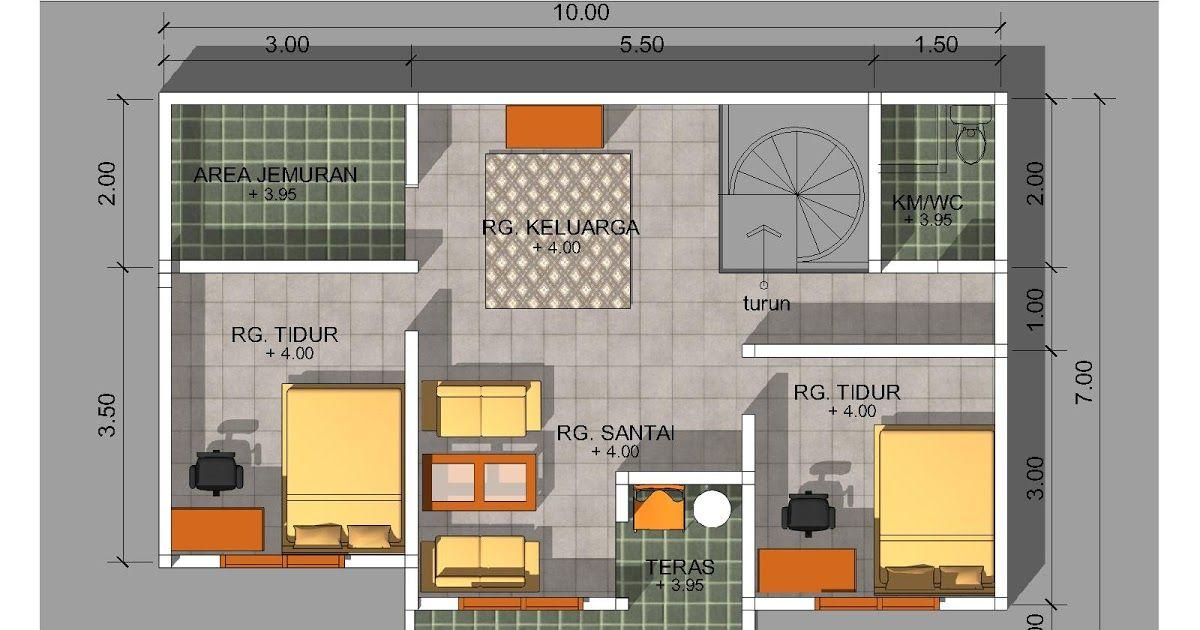 Gambar Desain Rumah Ukuran 6x8 Tukang Desain Rumah Denah Rumah
