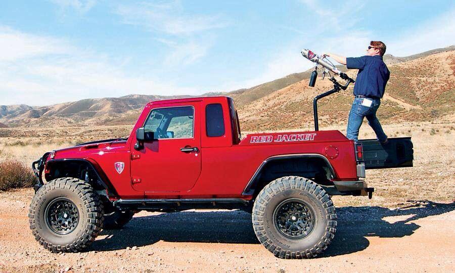 Red Jacket Jeep Truck Jeep Jeep Truck Jeep Pickup