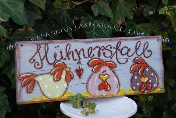 "Photo of Shabby Chic Türschild ""Hühnerstall"""