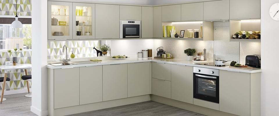 Stockbridge Matt Grey Like The Handles Prefer Cream Units Kitchen - Matt grey kitchen units