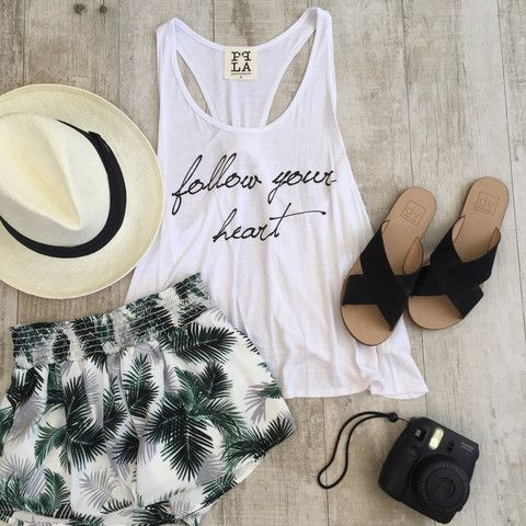 Follow Your Heart Open Back Tank | OHM BOUTIQUE