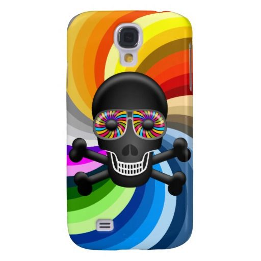 Rainbow Sugar Skull Samsung Galaxy S4 Case