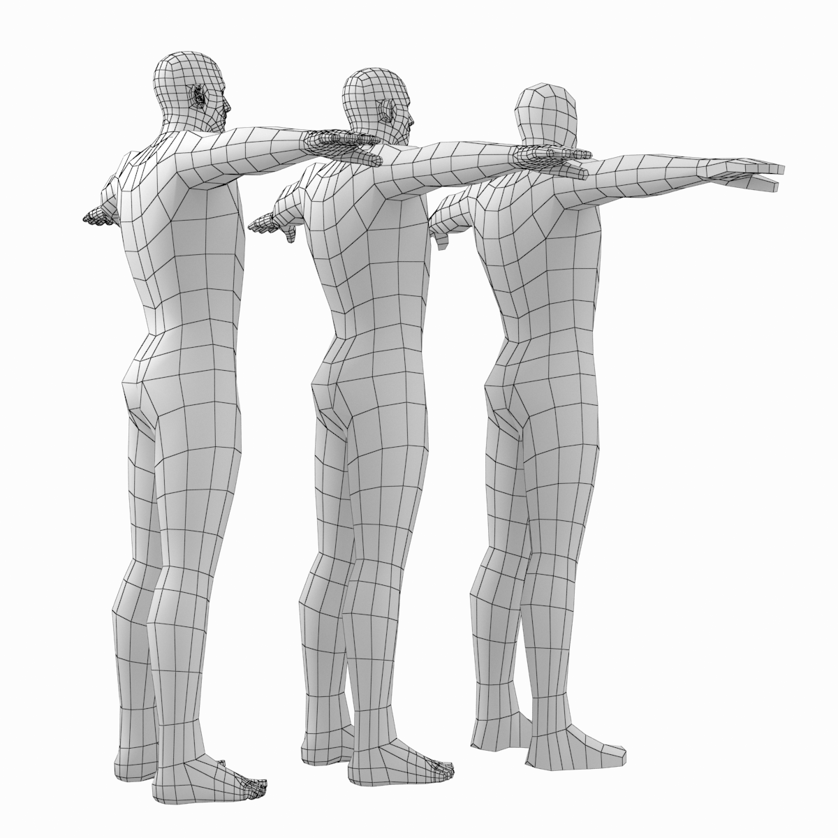 Female And Male Base Mesh Natural Proportions In T Pose Bundle Female Base Model Poses Poses