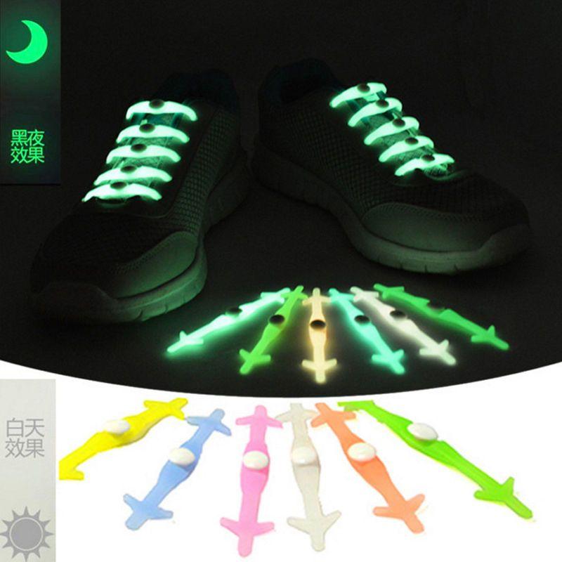 12x Unisex Lazy Laces No Tie Elastic Silicone Shoelaces Multicolor Shoe Lace