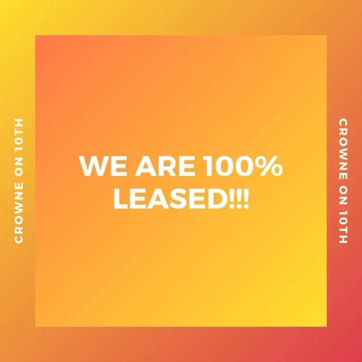 💛🧡We excited to announce that we are 💯% leased!!💛🧡 #leasedup #crowneon10th #lovewhereyoulive #waitlist2022 #birmingham #uab #samford #apartmentliving