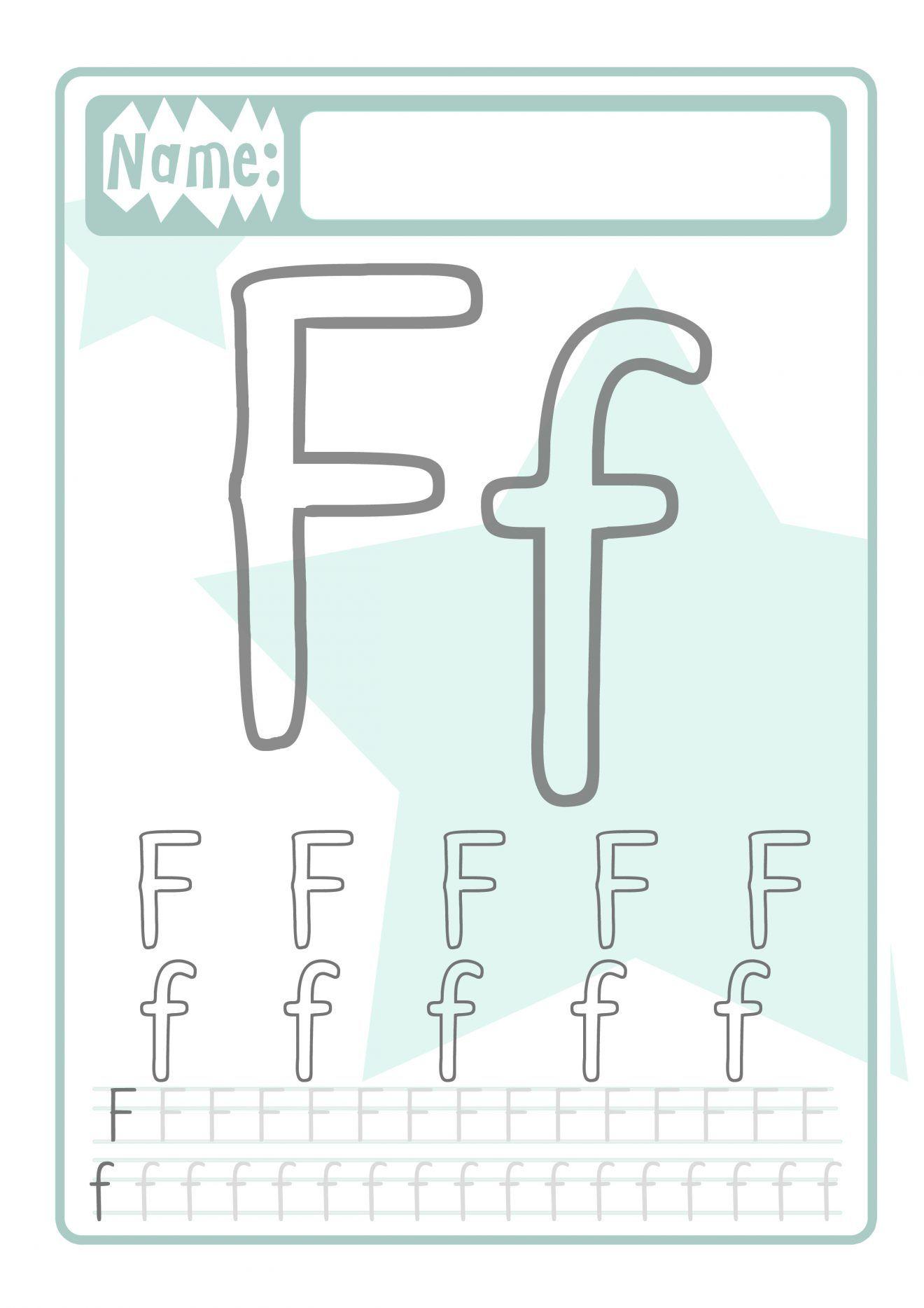 Buchstaben Druckvorlage für Kinder