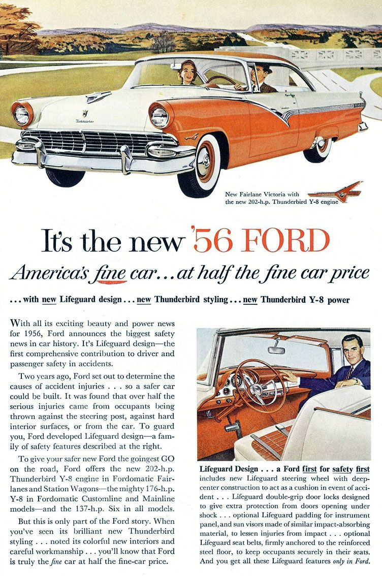 1956 Ford Fairlane Club Victoria | Ford: 1956 | Pinterest | Ford ...