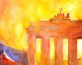 Brandenburg Gate Brandenburg Gate Painting Architecture Painting