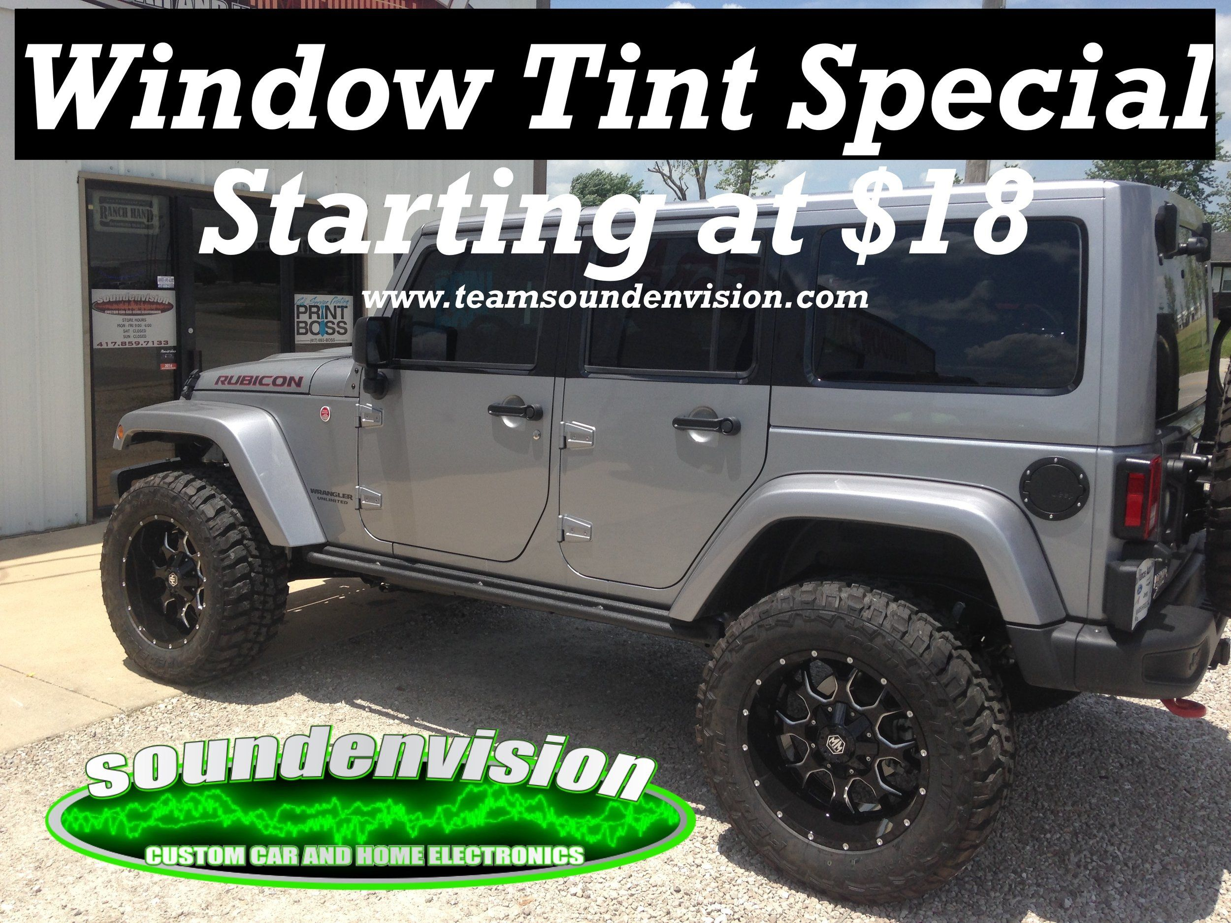 Window Tint Specials Soundenvision Marshfield Mo Windows