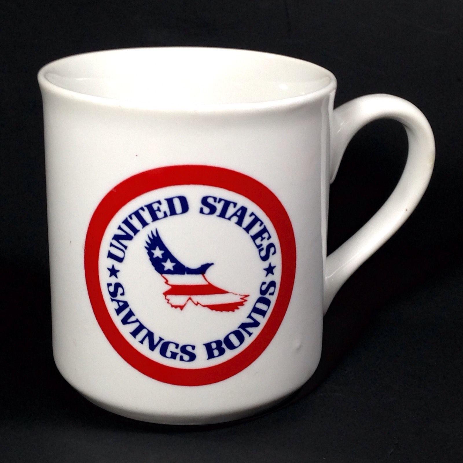 Usa United States Savings Bonds Coffee Mug Cup Red White Blue Eagle Stars Stripe