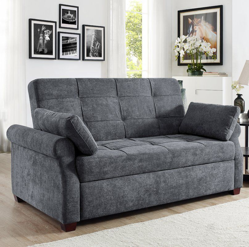 Sabrina Microfiber 72 6 Rolled Arm Sofa Bed Cool Couches Sofa
