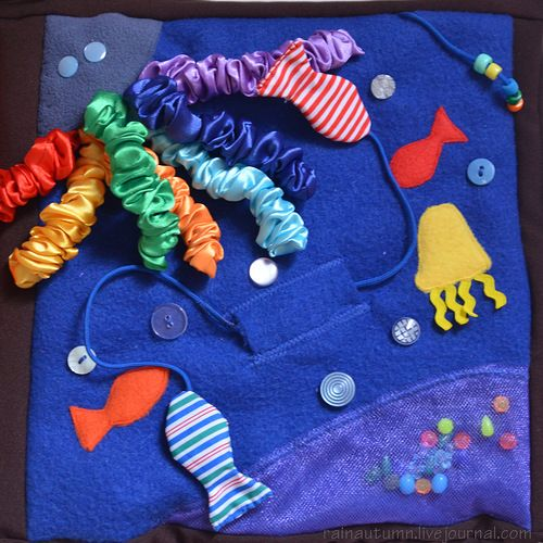 Ocean Quiet book page, good for little ones as lots of great textures and colours