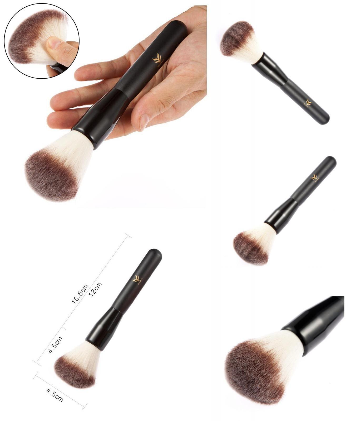 Visit to Buy HUAMIANLI Brand Makeup Powder Brush Wood Handle