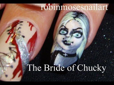The Bride Of Chucky Nails Childs Play 4 Nail Art Robin Moses