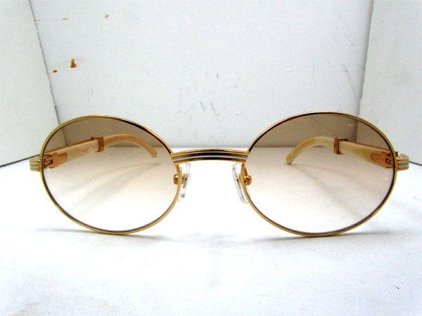 2011 new cartier 7550178 white buffalo sunglasses in gold