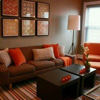 Lounge In Warm Earthy Colours
