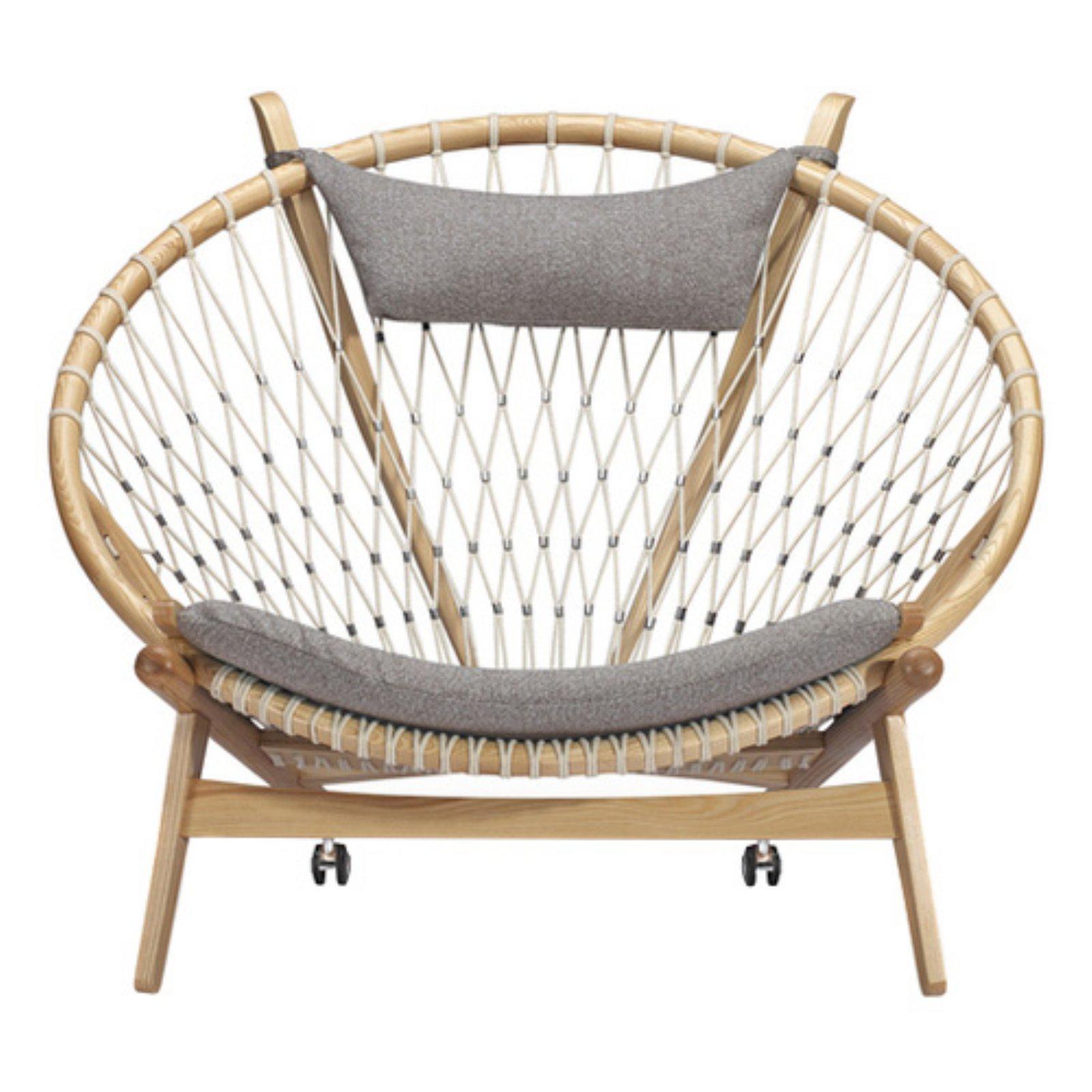 Kardiel Circle Hoop Modern Fabric Lounge Chair Urban