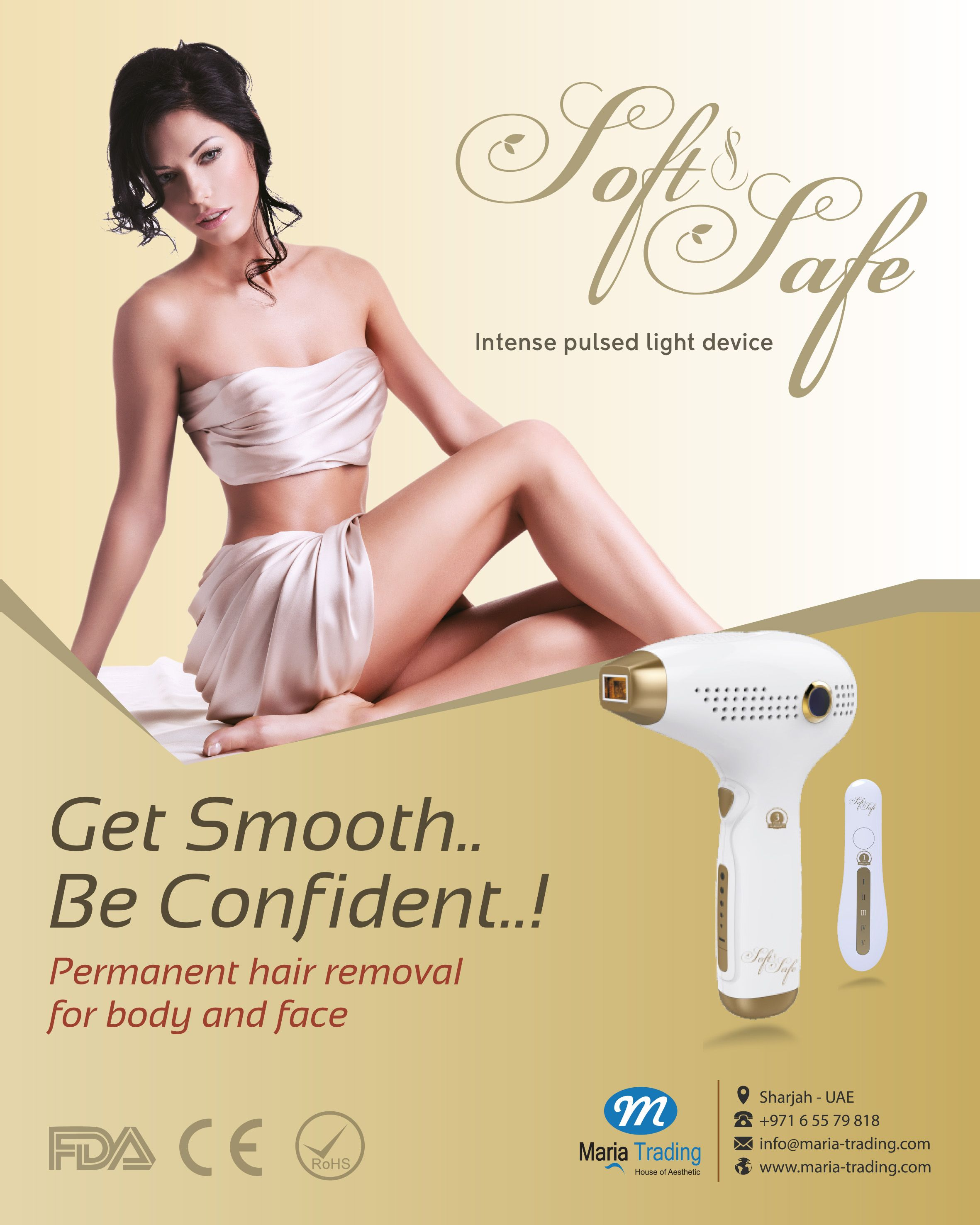 Laser Hair Removal With The All New Soft Safe Maria Trading
