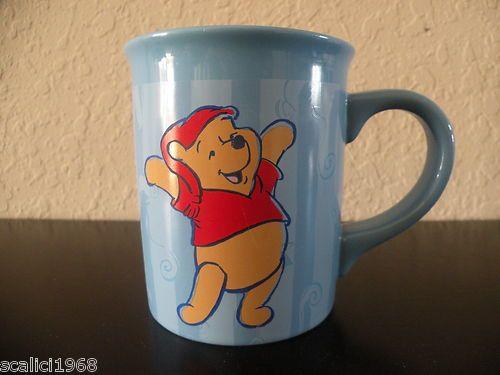 "Disney Store Winnie Pooh Coffee Mug ""Wake Up and Smell The Coffee"""