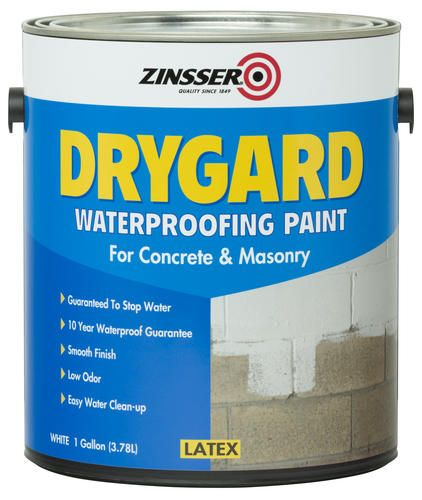 Zinsser Drygard Waterproofing Paint For Concrete And Masonry   1 Gal. At  Menards