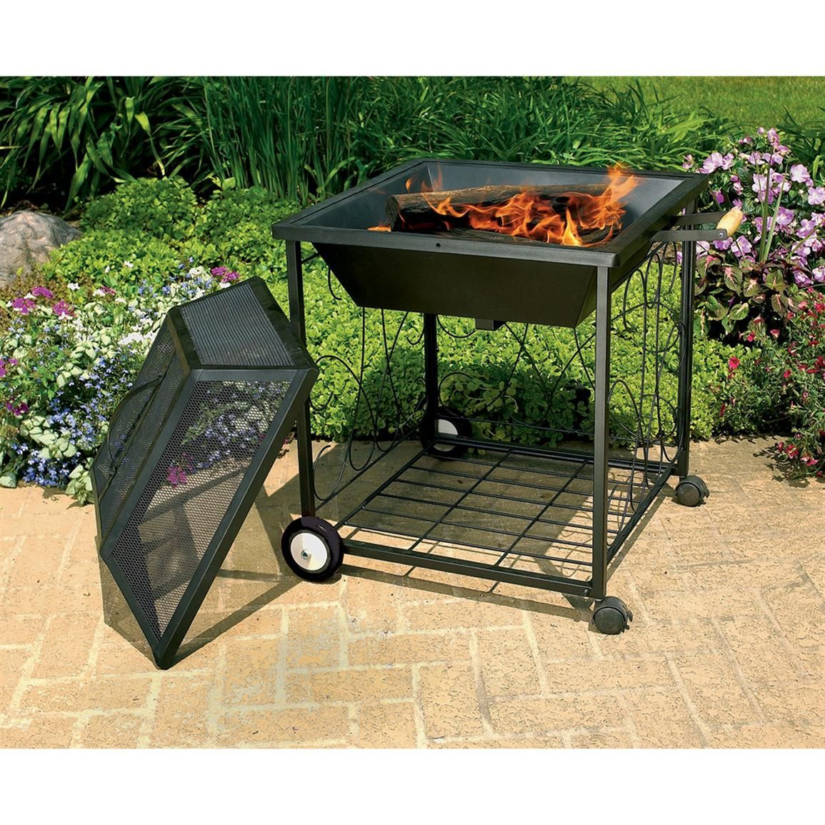Portable Outdoor Fire Pit With Wheels Fireplace Design Ideas Wood Fire Pit Portable Fire Pits Wheel Fire Pit