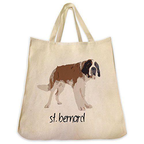 639ba03bafd8 St Bernard Dog Color Design Tote Bag Extra Large Cotton Twill Eco ...