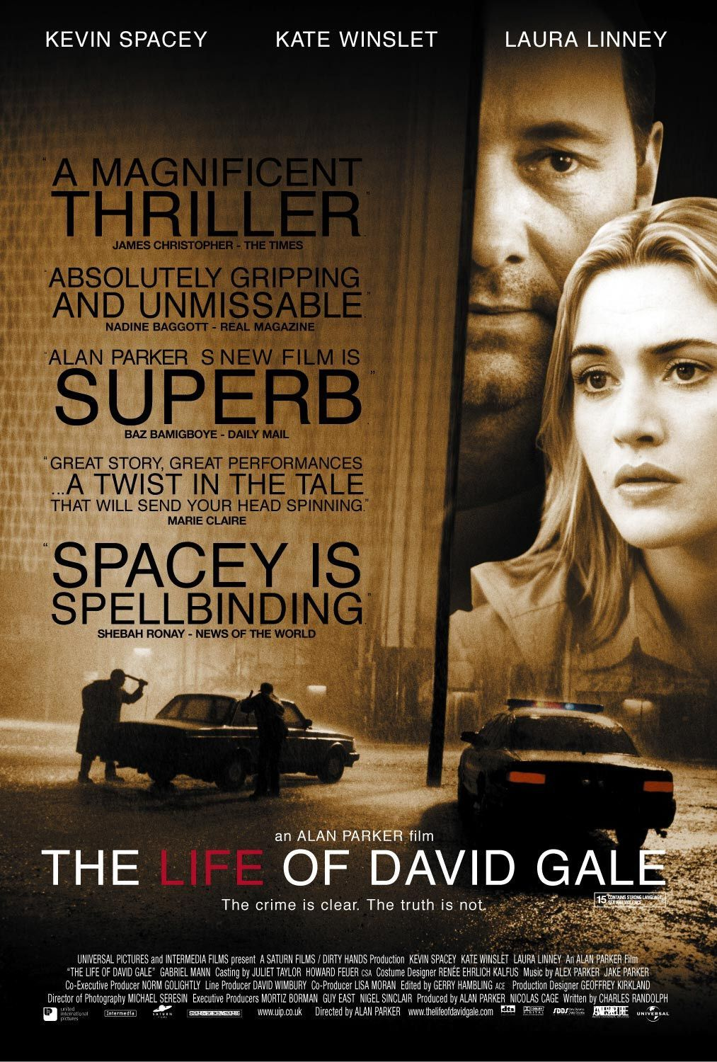the life of david gale starring kevin spacey kate winslet high resolution official theatrical movie poster of for the life of david gale image dimensions 1013 x directed by alan parker