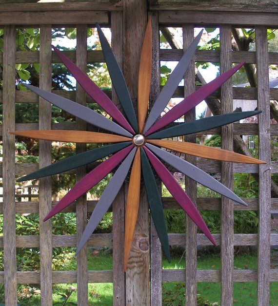 Large 26 Starburst Wall Art Outdoor Wall Fence Entryway Garden