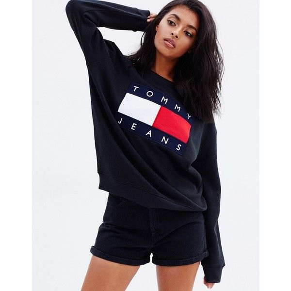 366755b31f8 Tommy Jeans 90s Sweatshirt ( 105) ❤ liked on Polyvore featuring tops
