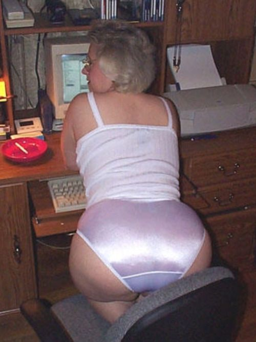 Hot granny panties useful