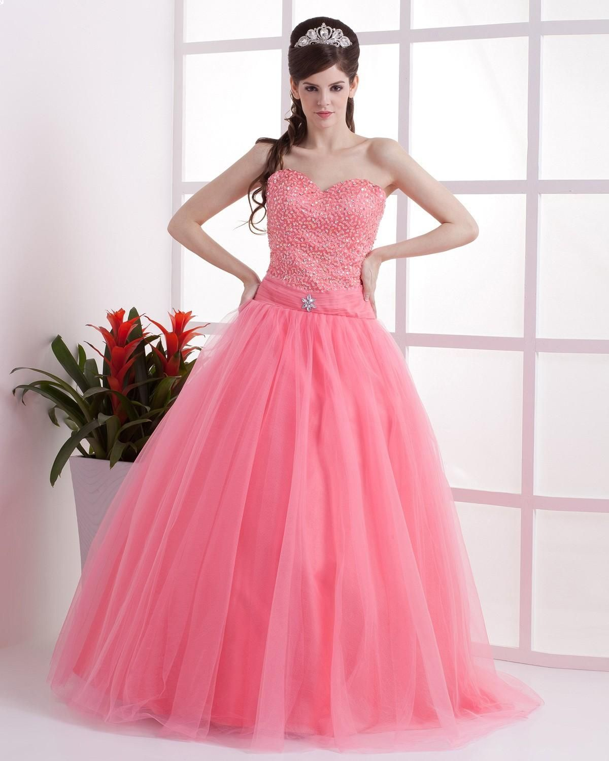 shocking pink color wedding gown with sleeves | Modern Wedding Ideas ...
