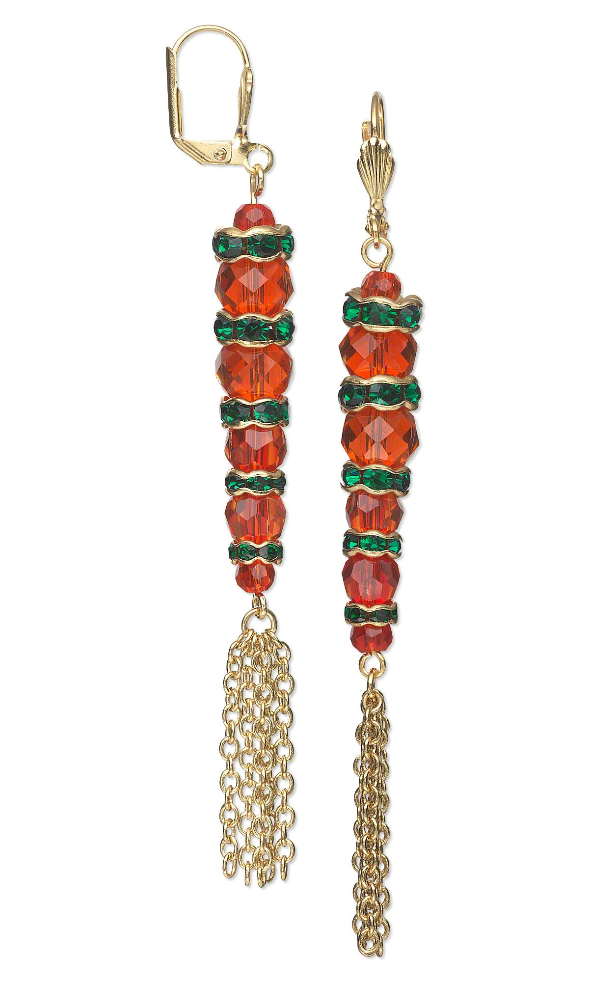 Jewelry Design - Earrings with Celestial Crystal® Beads and Gold ...
