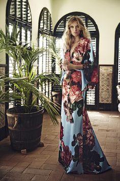 Vestido kimono largo fiesta