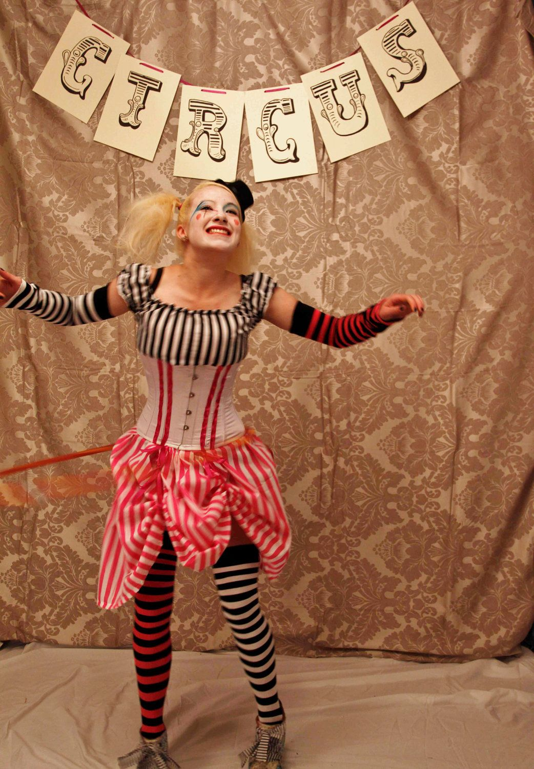 023598c228 Circus Clown Corset Costume Oufit-Corset Only-MADE FOR BUYER.  160.00