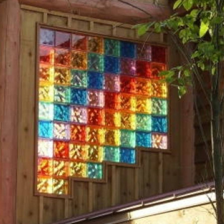 Glass Block Windows Hot Projects With Colored Glass
