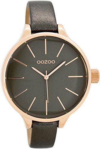 Oozoo Damenuhr mit Lederband 40 MM Rose/Grau/Silbergrau C7169 - http://on-line-kaufen.de/oozoo/oozoo-damenuhr-mit-lederband-40-mm-rose-grau-c7169