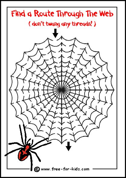 Preview Image Of Spider Web Maze Halloween Ideas