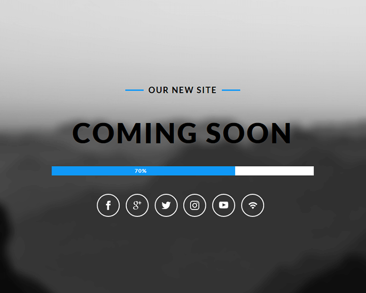 Free download this stunningly designed coming soon web page