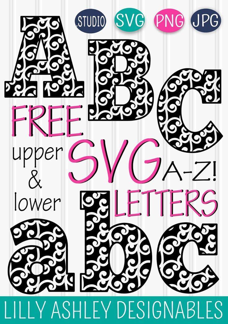 Download Free SVG Letter Set | Cricut monogram, Letter set, Lettering