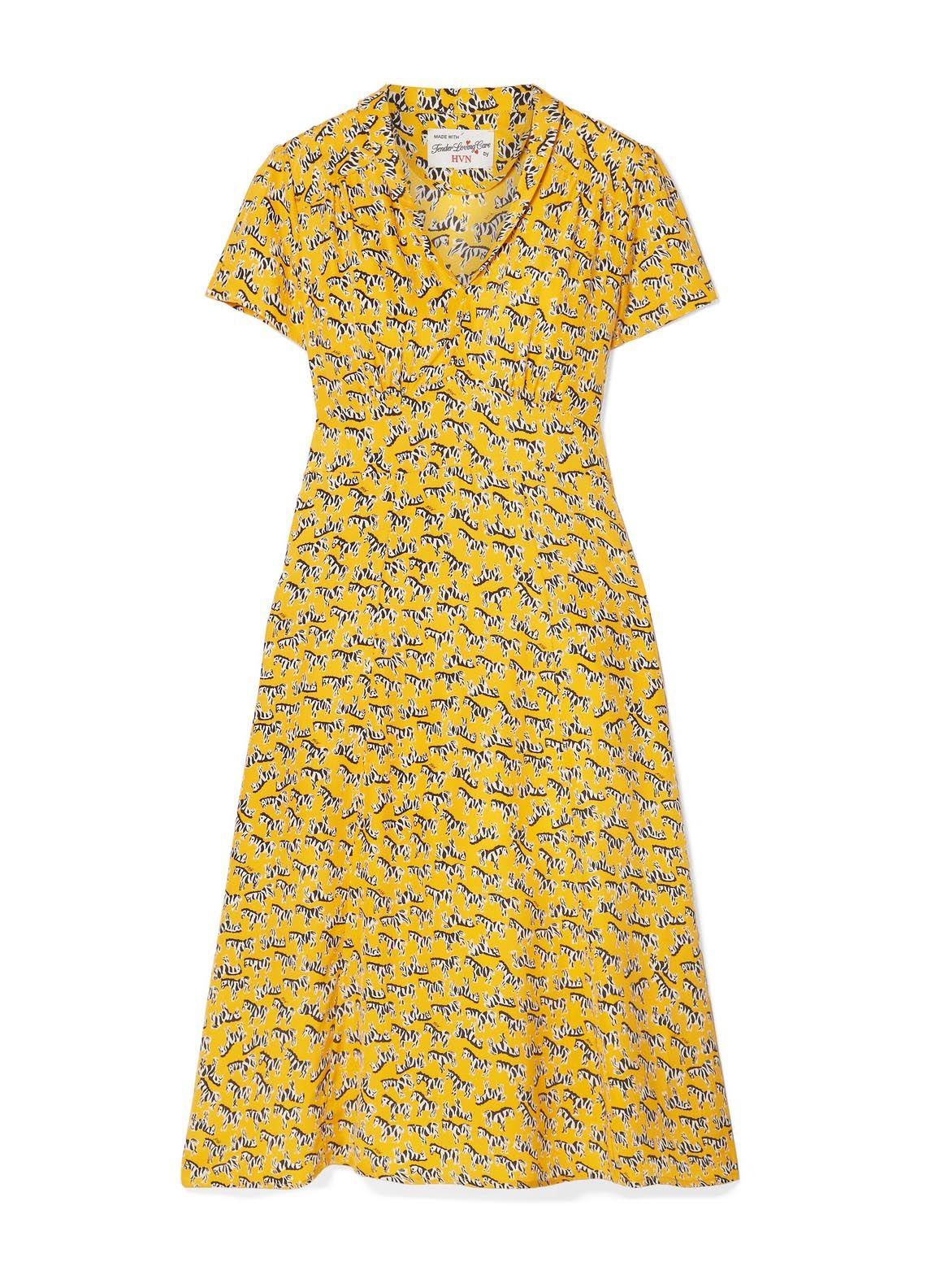 Yellow Zebra Morgan Dress Hvn Flattering Fashion Morgan Dress Dress Size Chart