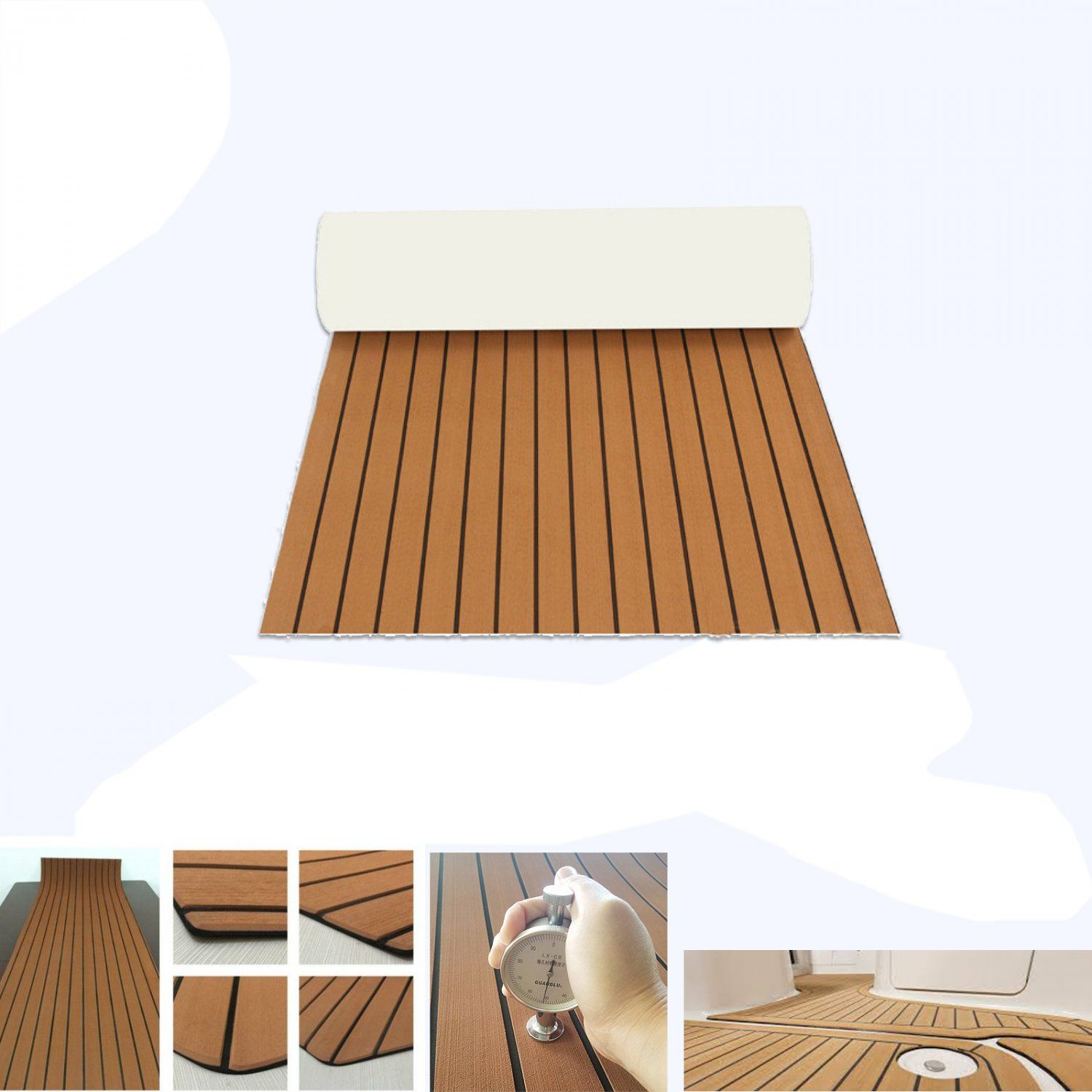 Eva Foam Synthetic Teak Self Adhesive Decking Marine Floor Boat Yacht Car Foam Flooring Foam Teak
