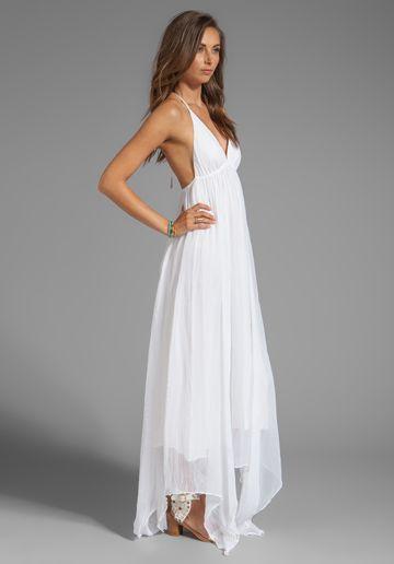 alice olivia bade triangle top halter dress in white dresses sam micah 39 s wedding. Black Bedroom Furniture Sets. Home Design Ideas