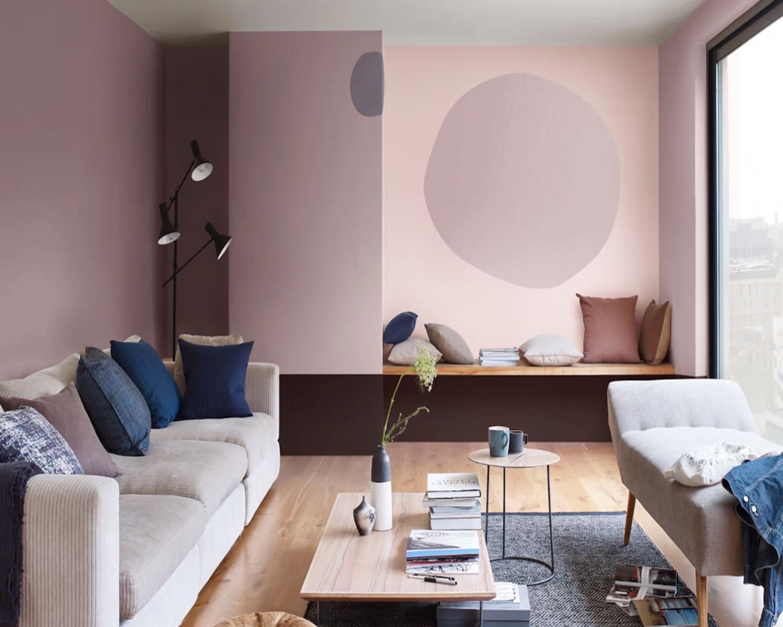 Zes Woonkamer Ideeen : Een muur in twee kleuren verven in zes eenvoudige stappen verf