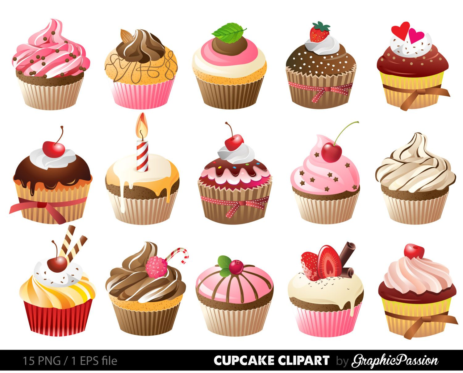 cupcakes clipart google search cupcakes pinterest. Black Bedroom Furniture Sets. Home Design Ideas