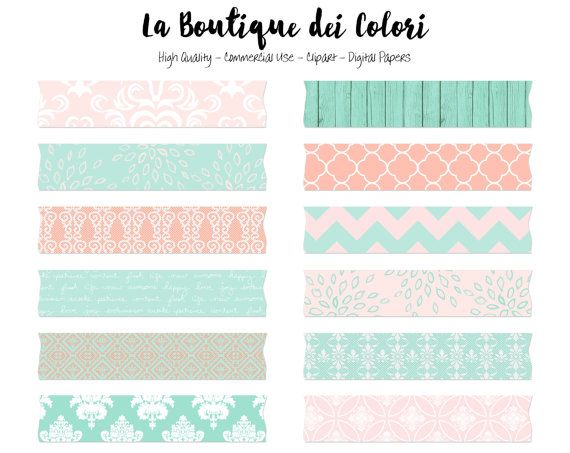 Tape cute. Pink and mint wedding