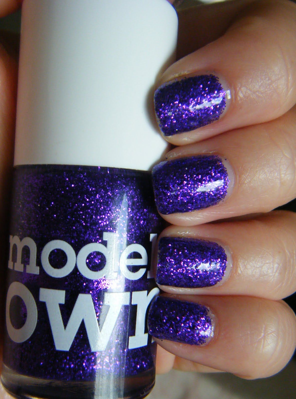 Models Own Smink Vintage Magazin Hotdog Hu Nail Polish Purple Haze Purple Glitter