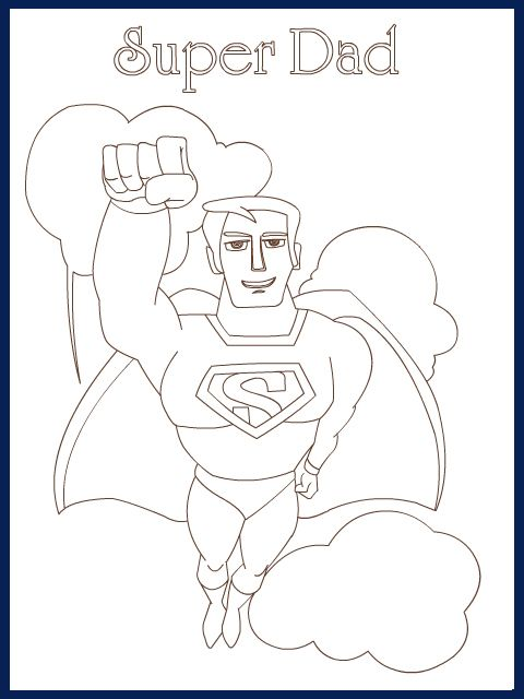 Simple card for my kids to colour in for Father's day.   Edgars ...